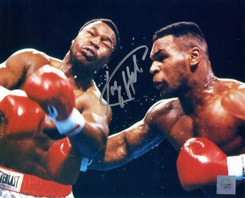 Larry Holmes Signed 8X10 Photo - Vs. Mike Tyson