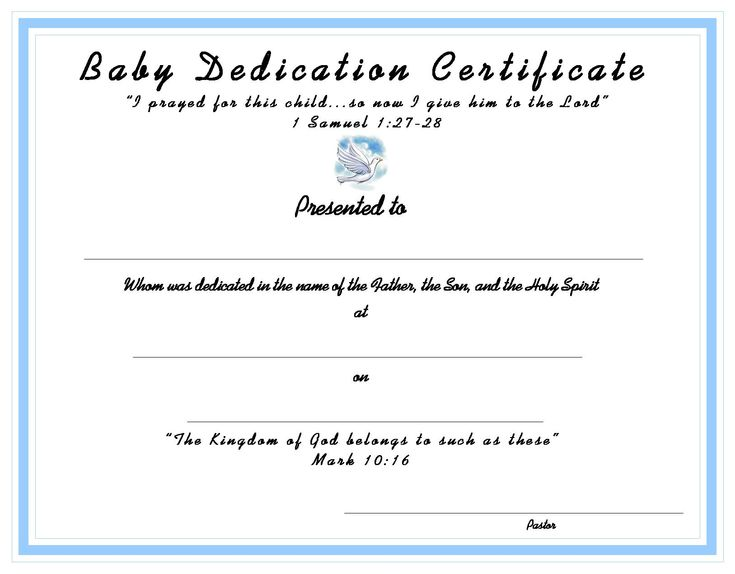 10 best Church Certificates images on Pinterest Free printable - naming certificates free templates