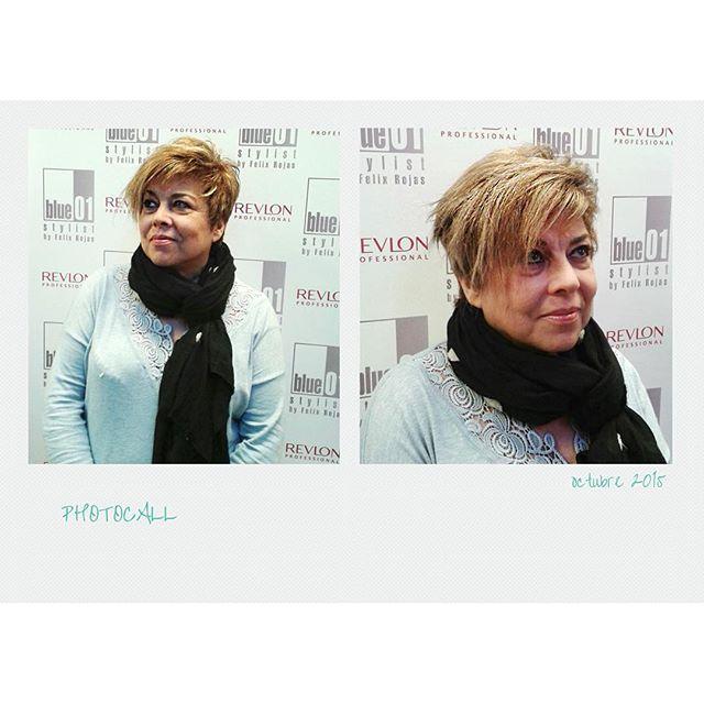 Montse con un cambio de imagen hecho por Lola del salón de Molins de Rei.  #blue01stylist #photocall #style #hair #pelo #coolhair #looks #instahair #hairstyle #instadaily #instagood #peluquerias #cabello #peluqueriabarcelona #hairoftheday #hairfashion #ha