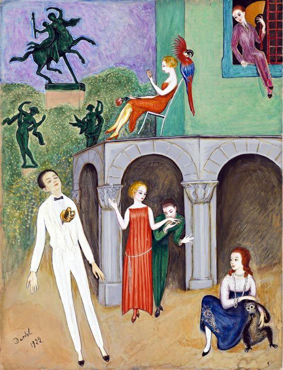 Nils Dardel (dreams and imaginations), 1922, watercolour