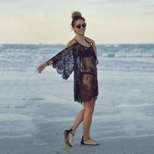 2015 seksi dantel mini kadın yaz kapalı omuz elbise mayo plaj örtbas Beachwear bikini vestido #70645(China (Mainland))