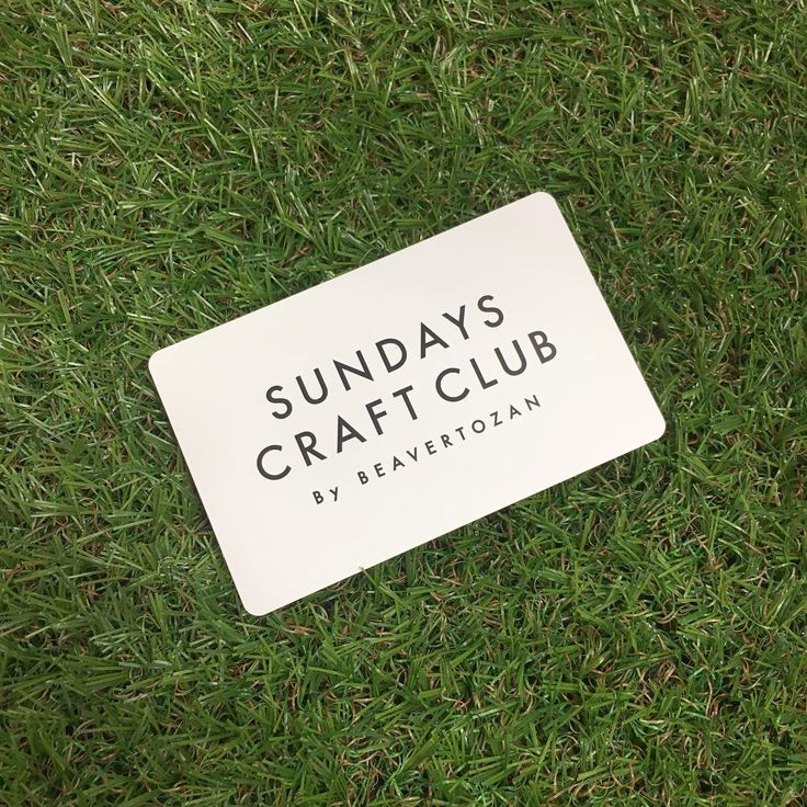 sundays craft club/menbers card/メンバーズカード/会員/white