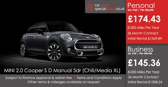 MINI HATCHBACK DIESEL  2.0 Cooper S D 5dr [Chili/Media Pack XL]