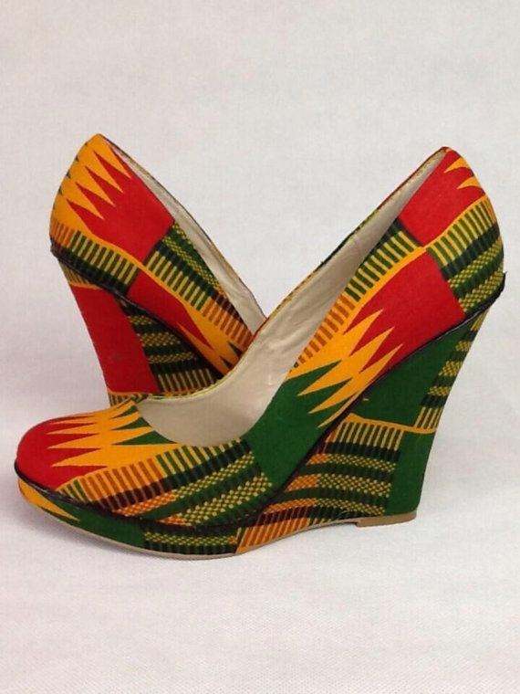 Kente Wedge Size UK8/US10 by SouthOfAfrica on Etsy