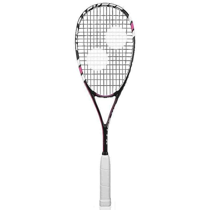 The stiff frame gives a direct response and a tight sweet-spot for unparalleled control. The smaller head is ideally suited for players who tend to middle the ball on a regular basis and play a very controlled game of squash. The smallest head racket in the range.