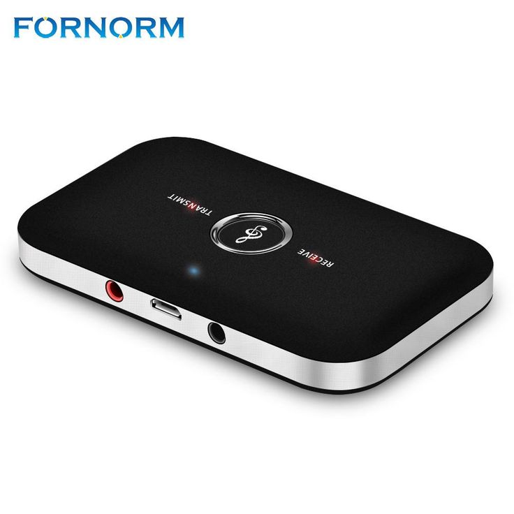 FORNORM 2 in 1 Wireless Bluetooth Audio Transmitter Receiver 3.5mm AUX A2DP Stereo Audio Adapter for TV Mp3 Mp4 PC