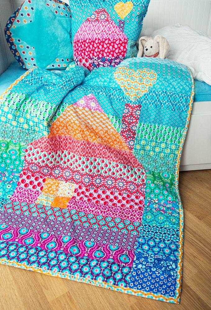 quilt house love | Bunter Haus Quilt | Jolijou