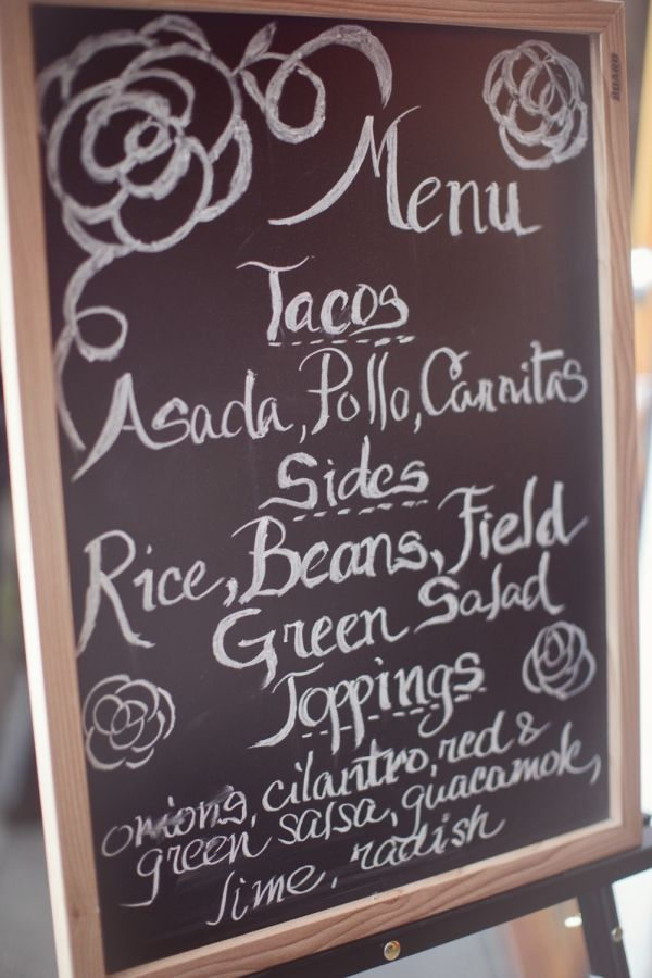 That is most likely our menu, plus pupusas...need a chalkboard like this.