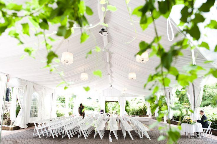 Outdoor tent ceremony Miller Lash House