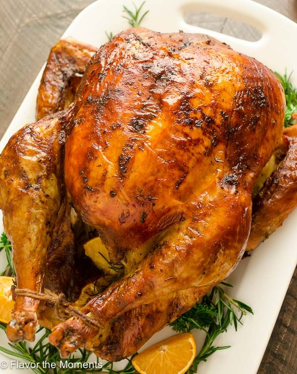Dry Brined Orange Rosemary Roasted Turkey is the easy way to brine your turkey with no messy liquid! Roast it to perfection for a juicy, flavorful turkey with the crispiest skin ever.   #ad #DiestelThanksgiving @FlavortheMoment