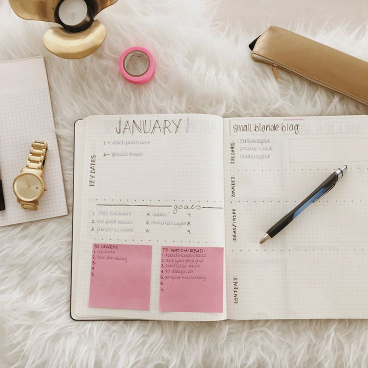 bullet journal spreads to get you ready for 2018 // www.smallblondeblog.com