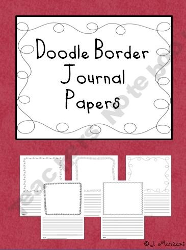 Doodle Border Journal Papers: Daily Five, Writing Paper, Journals Paper, Doodles Border, Border Journals, Doodle Borders, First Grade Lessons, Work On Writing, Writing Ideas