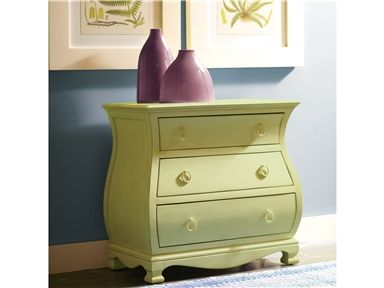 Riverside Furniture Placid Cove Bombe Nightstand In Honeysuckle White    16767   Lowest Price Online On All Riverside Furniture Placid Cove Bombe  Nightstand ...