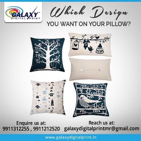 #PillowPrinting Select your favourite #Design which you would like to get printed on your pillow.