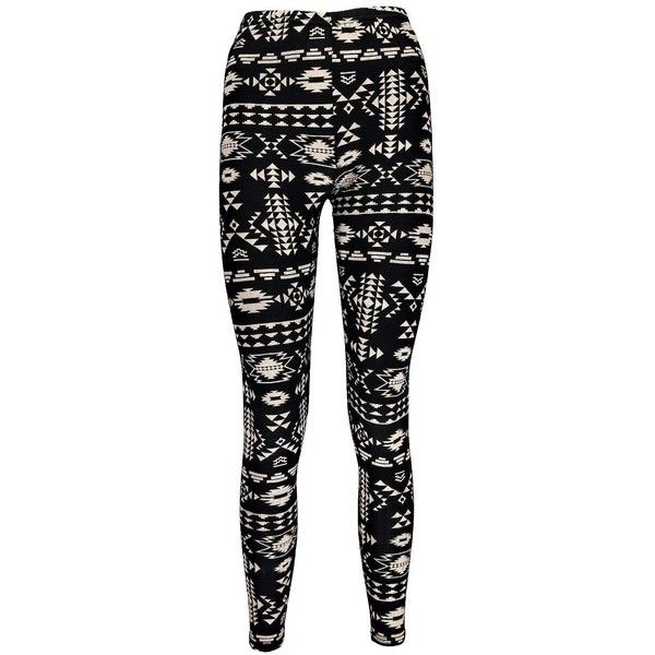 Boohoo Amy Aztec Tribal Print Leggings ($7) ❤ liked on Polyvore featuring pants, leggings, bottoms, jeans, aztec leggings, aztec pants, aztec print pants, tribal aztec leggings and aztec pattern leggings
