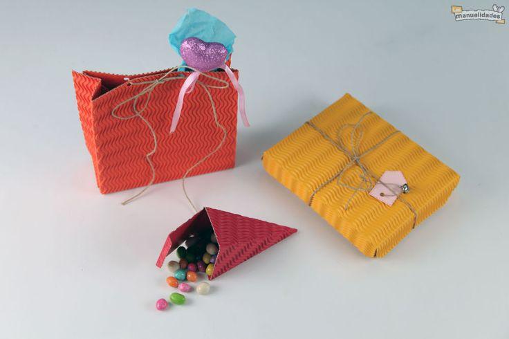 Cajas de cart n corrugado manualidades con papel y - Cajas para manualidades ...