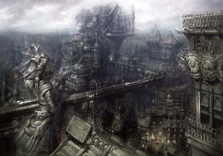 Steampunk cities - Google Search   A Plague Strikes ...