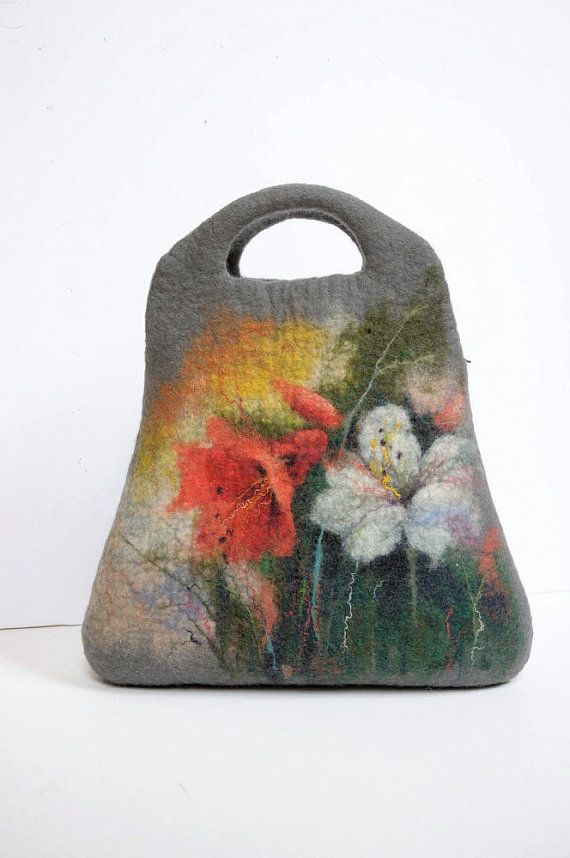 No! This is my favorite purse! Felted bag purse shoulderbag with wool paint picture. by Renefelt, $175.00
