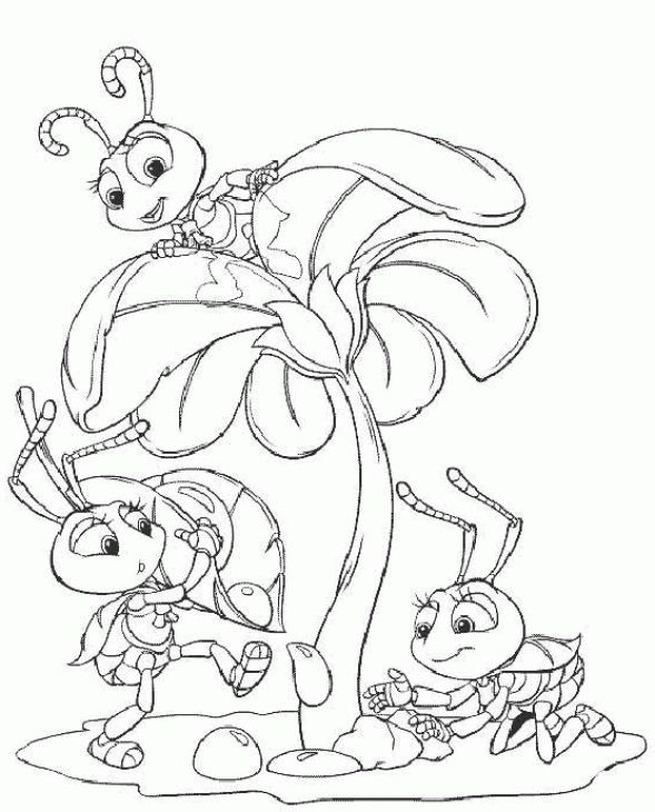 a bugs life coloring pages - photo#28