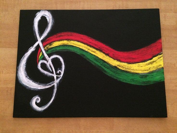 Reggae Music Note by KSWportfolio on Etsy https://www.etsy.com/listing/258396689/reggae-music-note
