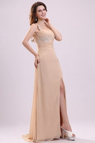 Chiffon Classic Sweetheart Prom Dresses wr2368 - http://www.weddingrobe.co.uk/chiffon-classic-sweetheart-prom-dresses-wr2368.html - NECKLINE: Sweetheart. FABRIC: Chiffon. SLEEVE: Sleeveless. COLOR: Champagne. SILHOUETTE: A-Line. - 141.59