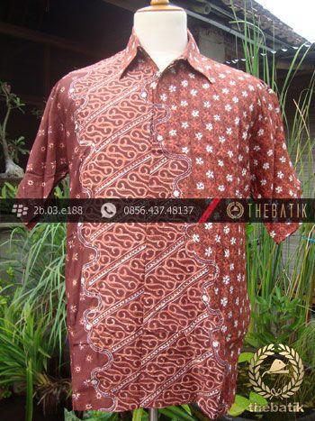 Kemeja Batik Seragam Motif Parang Kontemporer Jingga-1 | #Indonesia Men Women #Batik Tops Shirt #Clothing http://thebatik.co.id/baju-batik/
