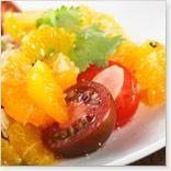 Salsa de clémentines, amandes et tomates cerises