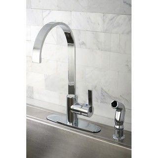 @Overstock - Give your kitchen a modern look with this sleek chrome kitchen faucet. A single handle lets you easily control the water volume and temperature at the same time, and an optional deck plate can cover unused holes, letting you use the faucet on any sink.http://www.overstock.com/Home-Garden/Continental-Modern-Chrome-Centerset-Kitchen-Faucet/5256066/product.html?CID=214117 $113.99