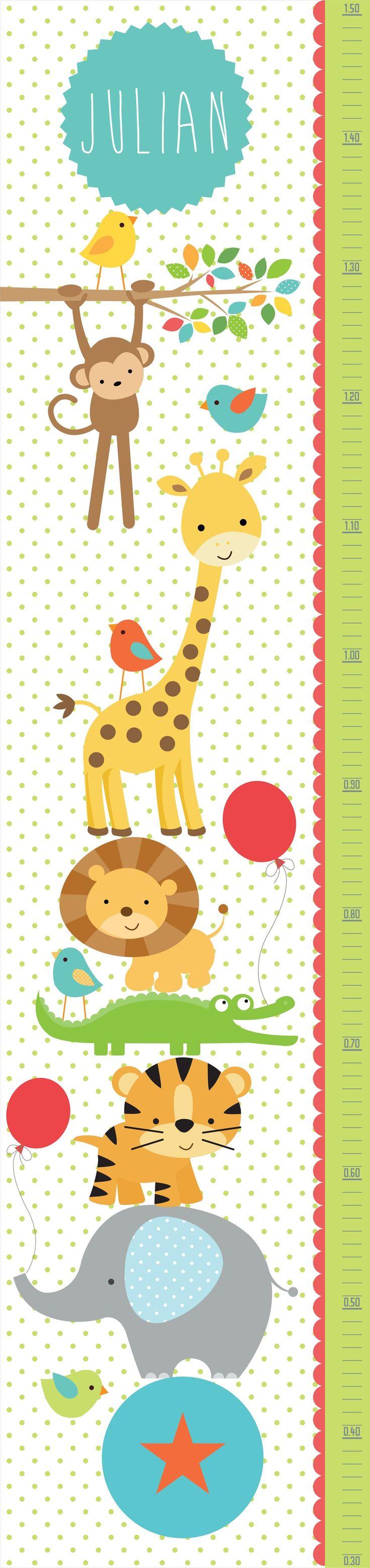 M 225 s de 1000 ideas sobre decoraciones de fiesta de safari en pinterest - Kit De Vinilo Decorativo Autoadhesivo Medidor Animales De La Selva Con Nombre Personalizado