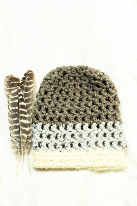 Slouchy Hat Neutral Color Slouchy Hat Chunky by CreationsByAshleyH