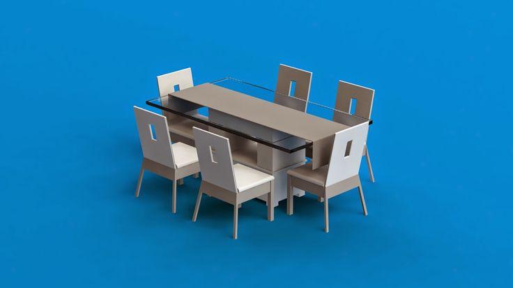 markas studio: Set Ruang Makan | Meja + Kerusi