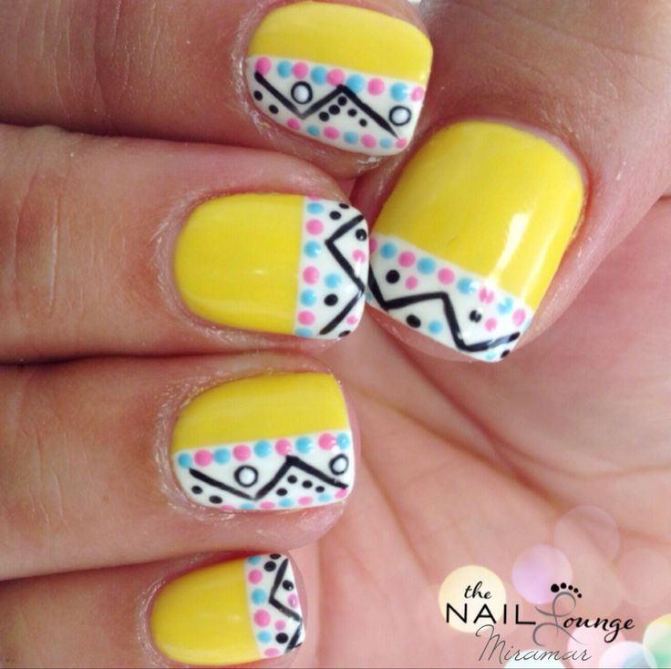 Yellow Spring Easter Nail Art Design Nails Pinterest