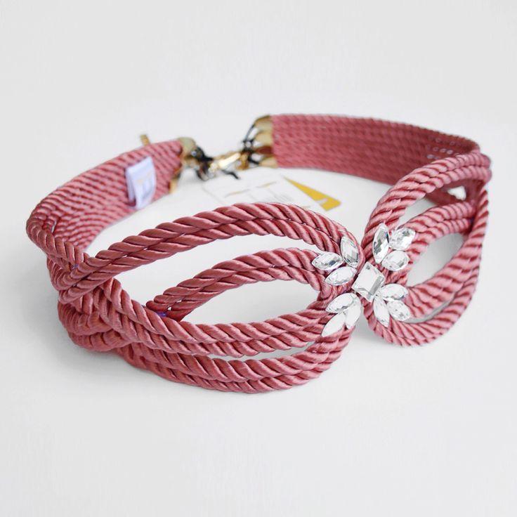 ● Cinturón de cordón de seda | Modelo CHARLOTTE | Diseño de OLVIDO MADRID