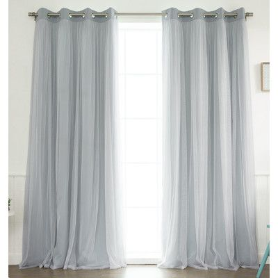 Best Home Fashion  Inc  Lace Tulle Overlay Blackout Curtain Panel   Reviews    Wayfair. 5828 best Best Blackout Curtains images on Pinterest   Blackout