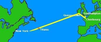 map of titanic route - Google Search