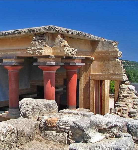 destruction of the bronze age island and During the height of the greek bronze age, a volcano erupted on the ancient greek island of thera  (and hence the destruction of the palaces) .