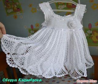 Croche pro Bebe: Vestidos em croche. White dress