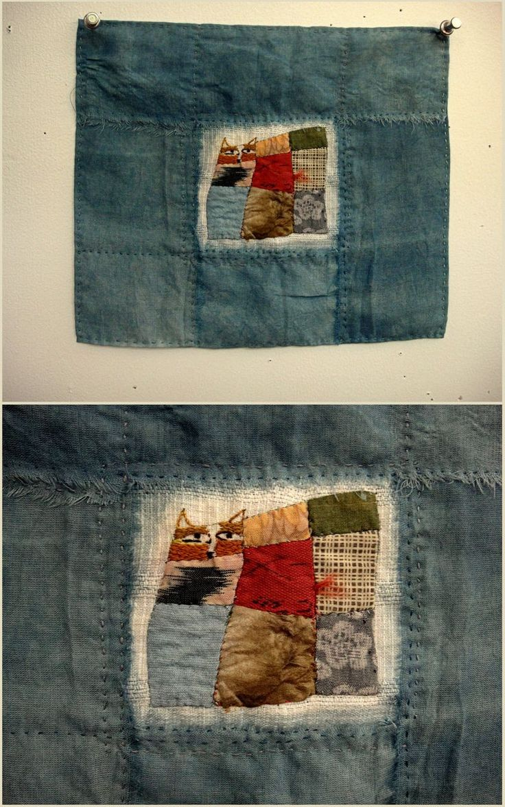 """Spirit Cloth Jude Hill...stitching a story because it seems I might be able to communicate something through cloth making. I hope so. """"Cat in the Window"""""""