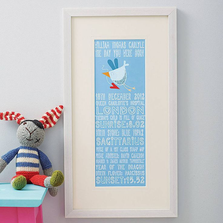 personalised 'the day you were born' print by lucy's world | notonthehighstreet.com