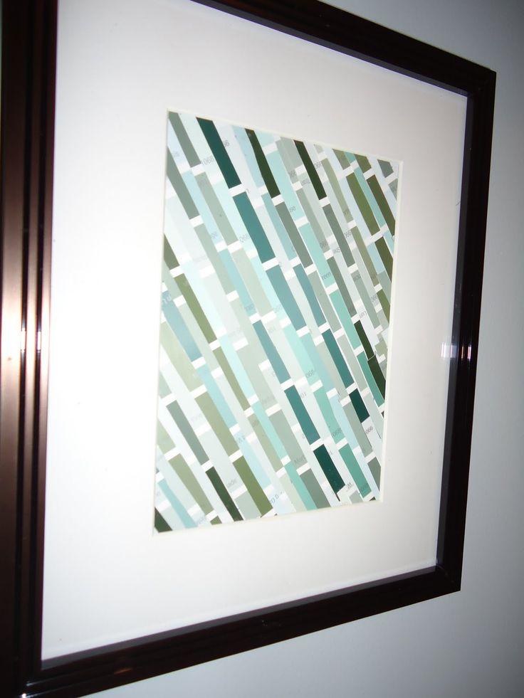 paint chip art, love this idea