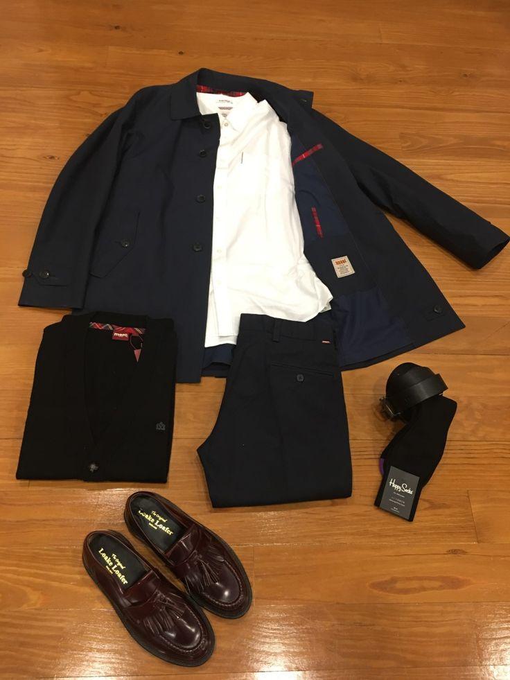 "Blog #RivendelMadrid ""British Outfit @merclondonuk ""  #Baracuta #gabardina #raincoat #merc #jersey #jumper #bensherman #camisa #shirt #merc #pantalones #staprest #loake #zapatos #footwear #happysocks #calcetines #socks #guardarropa #wardrobe #madrid http://www.rivendelmadrid.es/blog/"