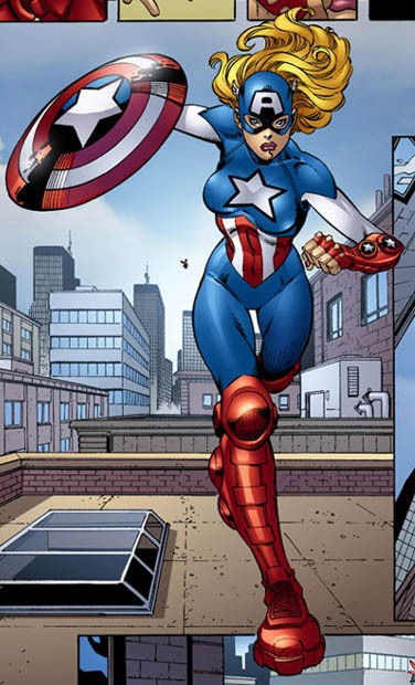 American Dream - Shannon Carter. Peggy Carter's niece an an awesome female captain america costume!