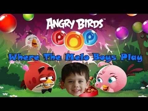 Melo Boys Jackson plays Angry Birds Pop! Bubble pop game by Rovio