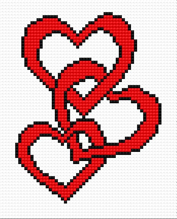 Hearts free pdf pattern