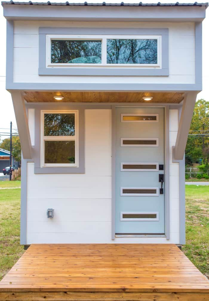 Modern Tiny House Ultra Lightweight We Deliver Tiny House For Sale In Austin Texas Tiny Hou Tiny House Appliances Tiny House Design Tiny House Listings