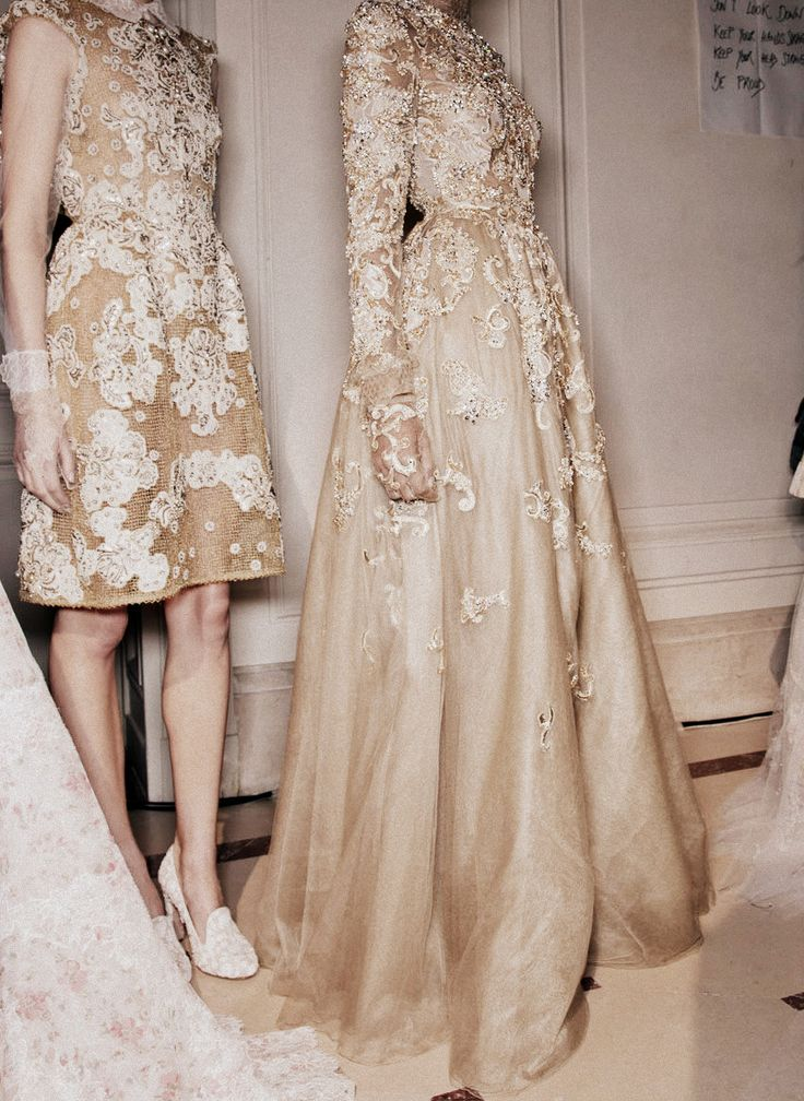 gold bridesmaids | valentino