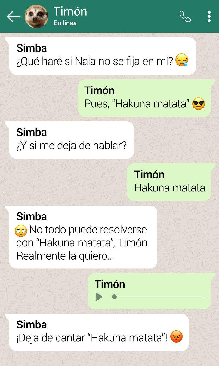 Asi Serian Las Conversaciones Entre Los Personajes De El Rey Leon Si Tuvieran Whatsapp Rey Leon Personajes De El Rey Leon El Rey Leon
