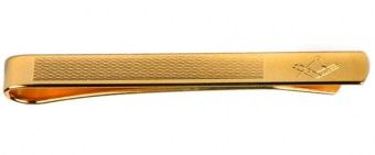 Masonic Engraved Gold Plated Tie Bar with Barley Design - £19.99