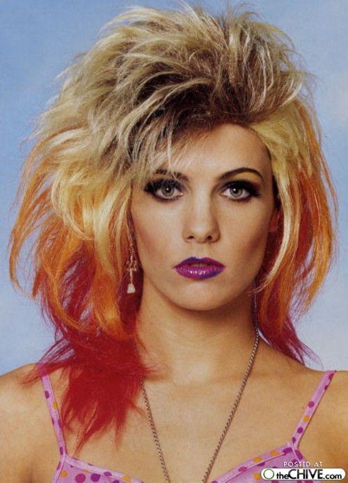 80s hair makeup