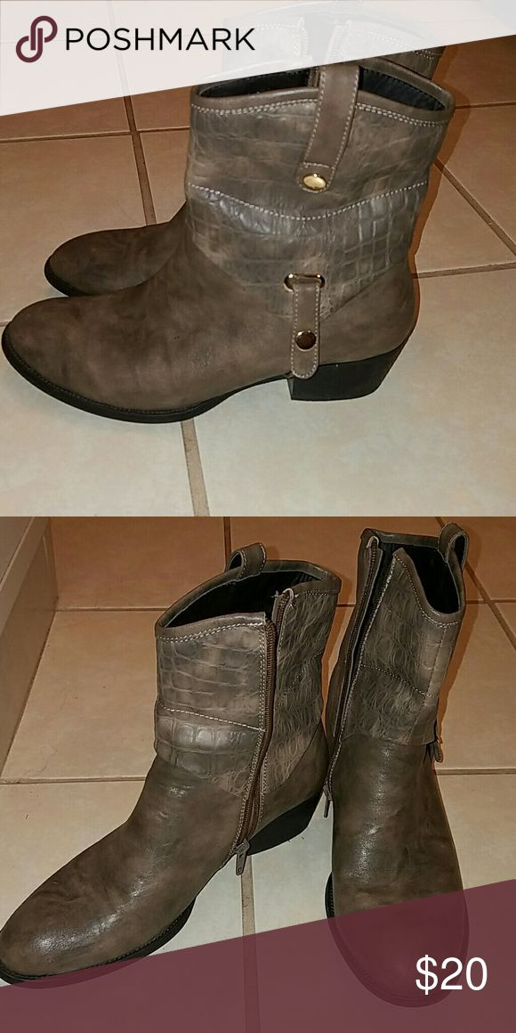 Ankle boots Taupe ankle side zip boots worn twice. french blu Shoes Heeled Boots